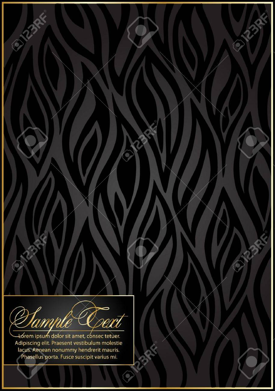 Black Seamless floral Pattern. Stock Vector - 10452481