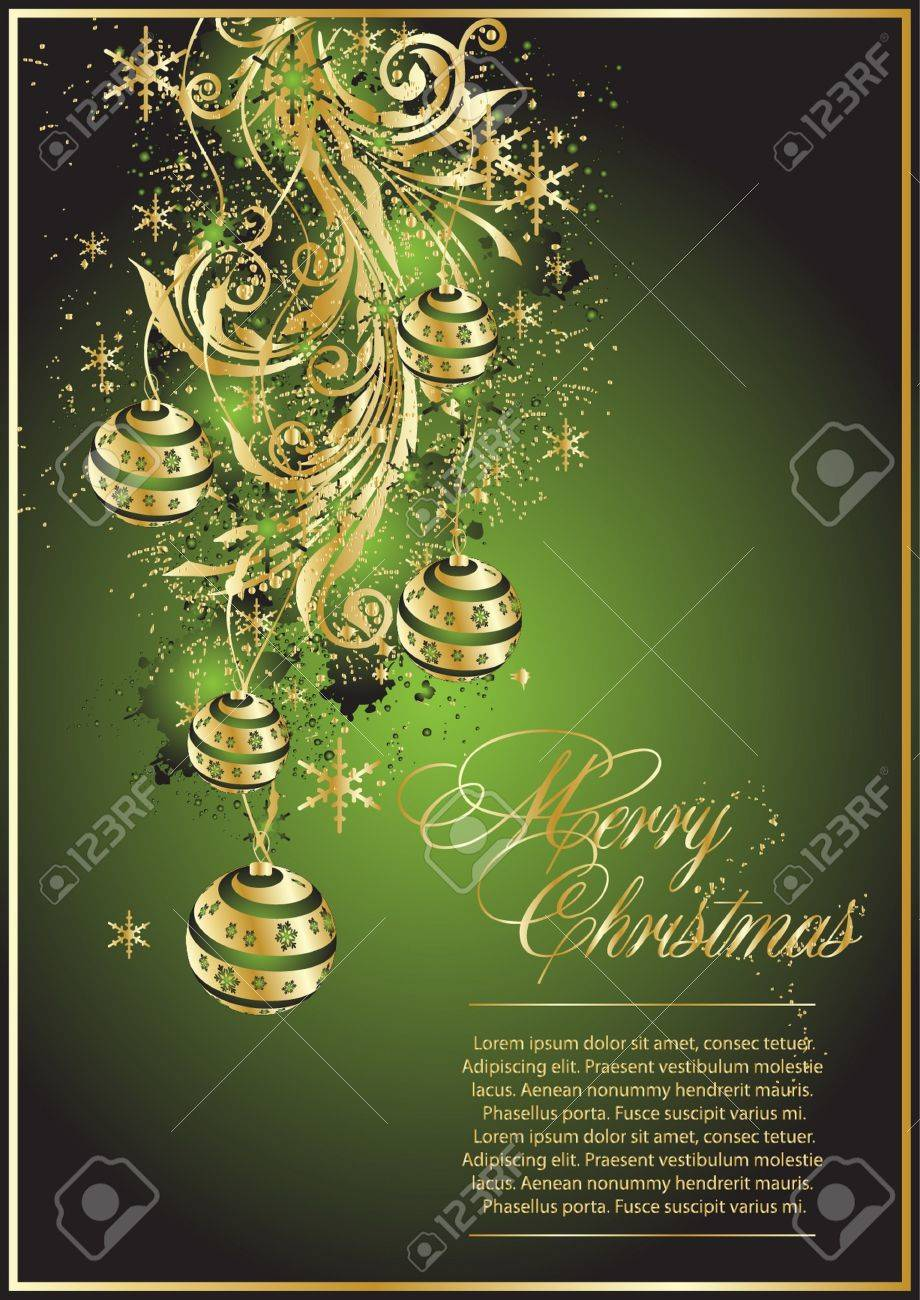 Xmas tree with gold balls Stock Vector - 10454217