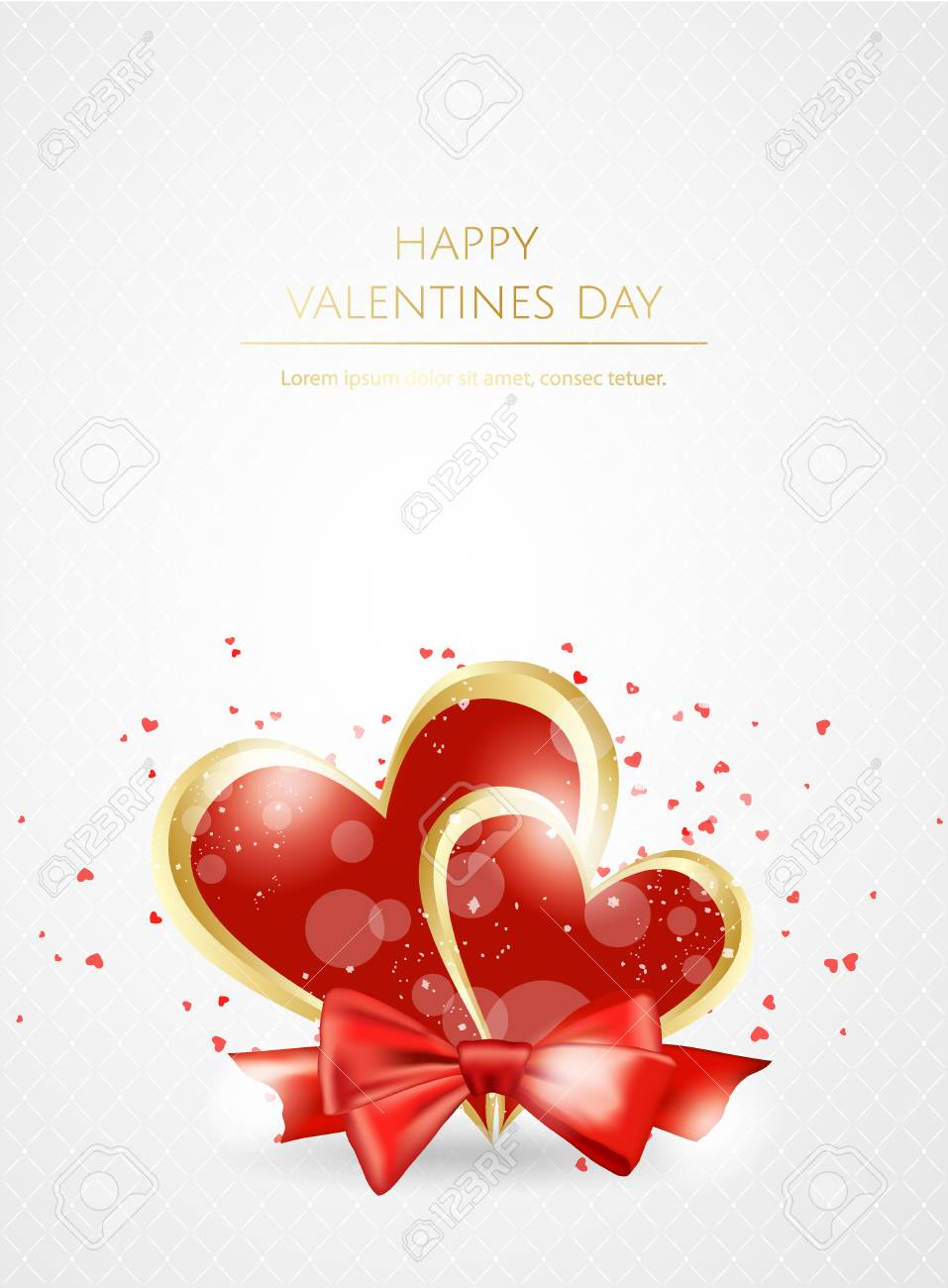 Valentines Day Sale Background With Heart Vector Illustration