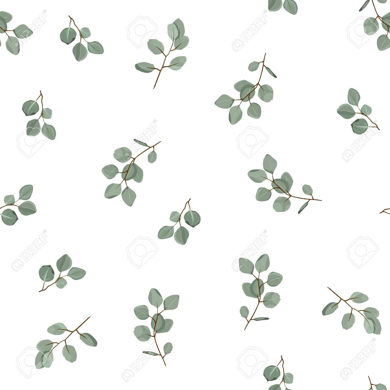 Floral seamless pattern. Plant texture for fabric, wrapping, wallpaper and paper. Decorative print. - 97574554