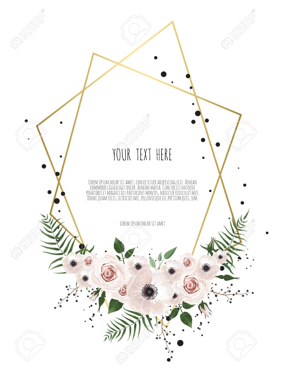 Stylish Floral Vector Design Round Frame. Vector Illustration ...