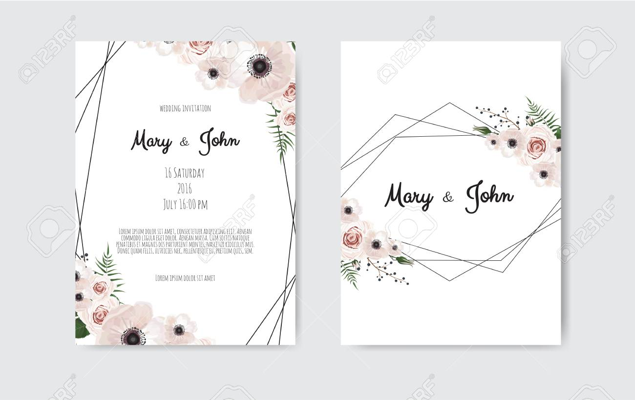 wedding invite invitation botanical wedding invitation card