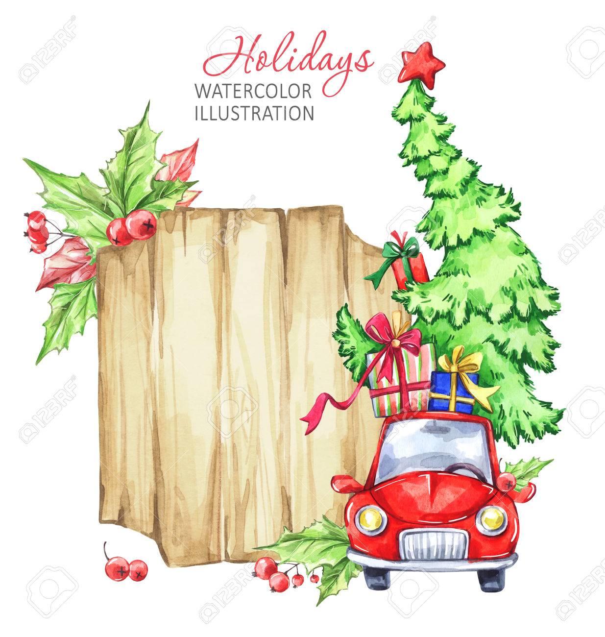 Auto Weihnachtsbaum.Stock Photo