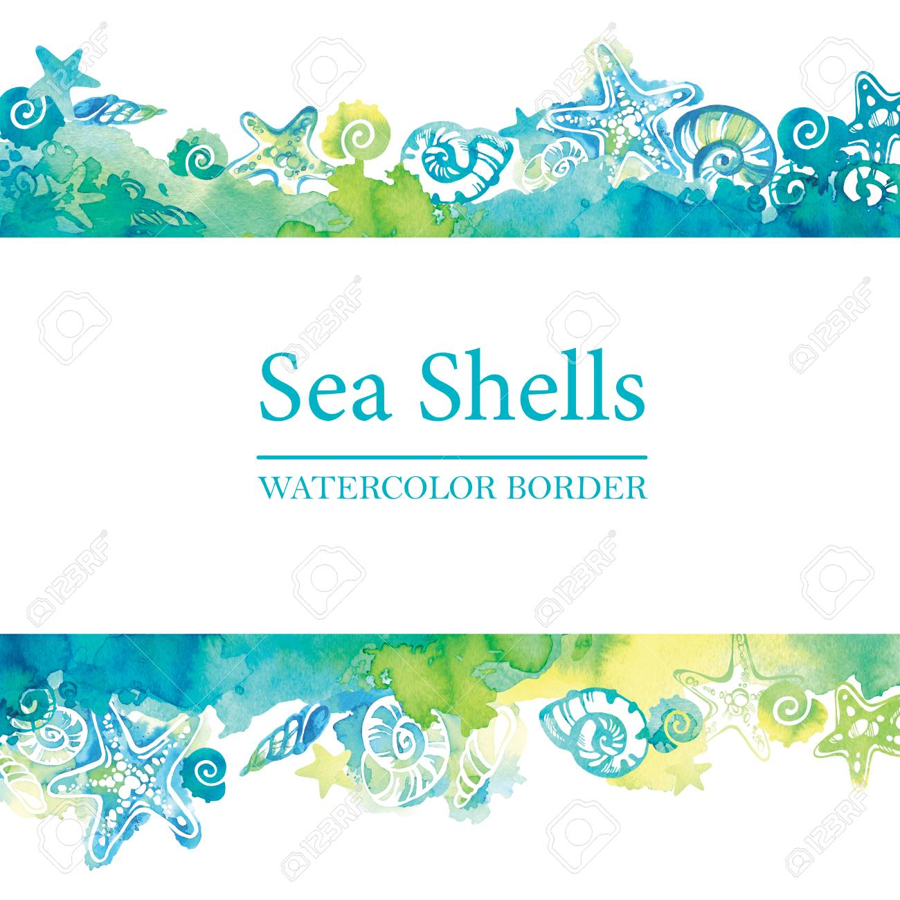 Spring And Summer Watercolor Ocean Background With Shining Sparks.. Royalty  Free Cliparts, Vectors, And Stock Illustration. Image 80489179.
