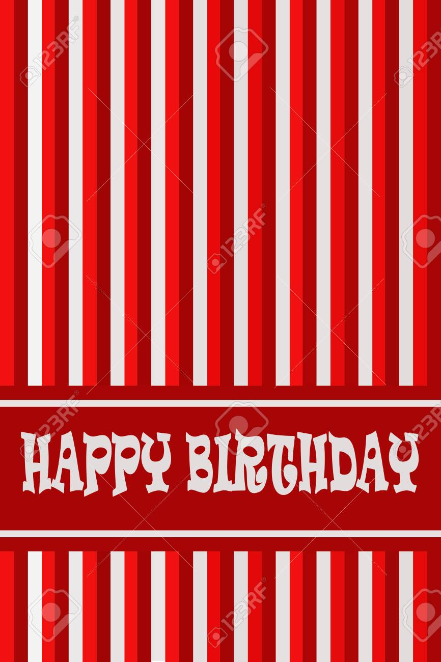 Birthday Card With Red Color Stock Photo Picture And Royalty Free