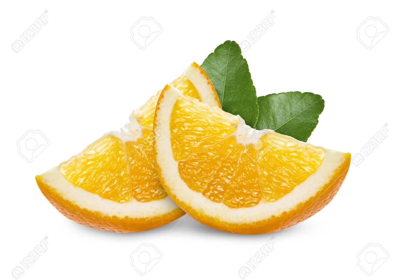 orange slice on white background - 148680741