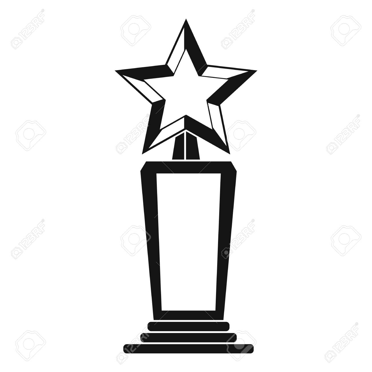 Star Award Icon Simple Illustration Of Vector Isolated On White Background Stock