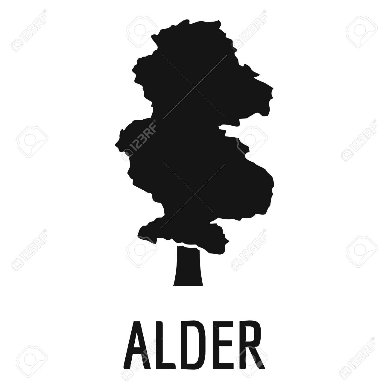 Alder tree icon. Simple illustration of alder tree icon for web. - 91740197