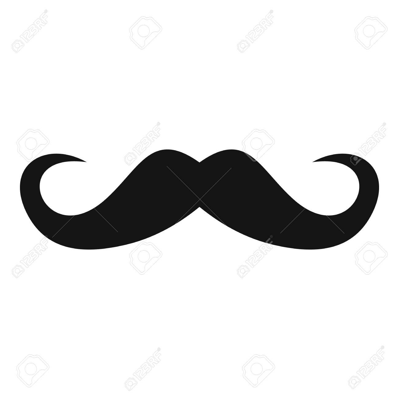 Handlebar mustache icon. Simple illustration of handlebar mustache vector icon for web - 91729092