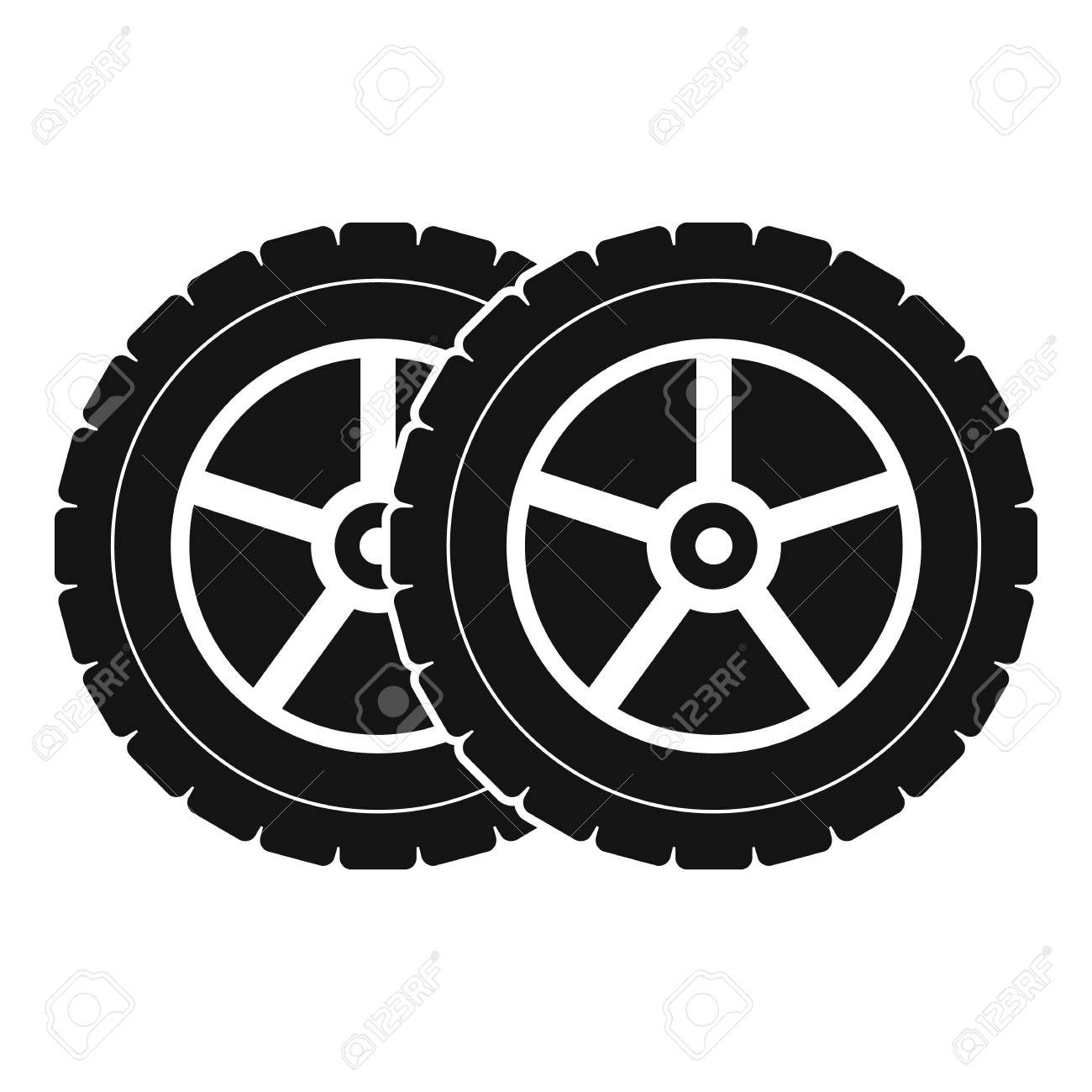 9de1c6ba643037 Car tyre icon. Simple illustration of car tyre vector icon for web Stock  Vector -