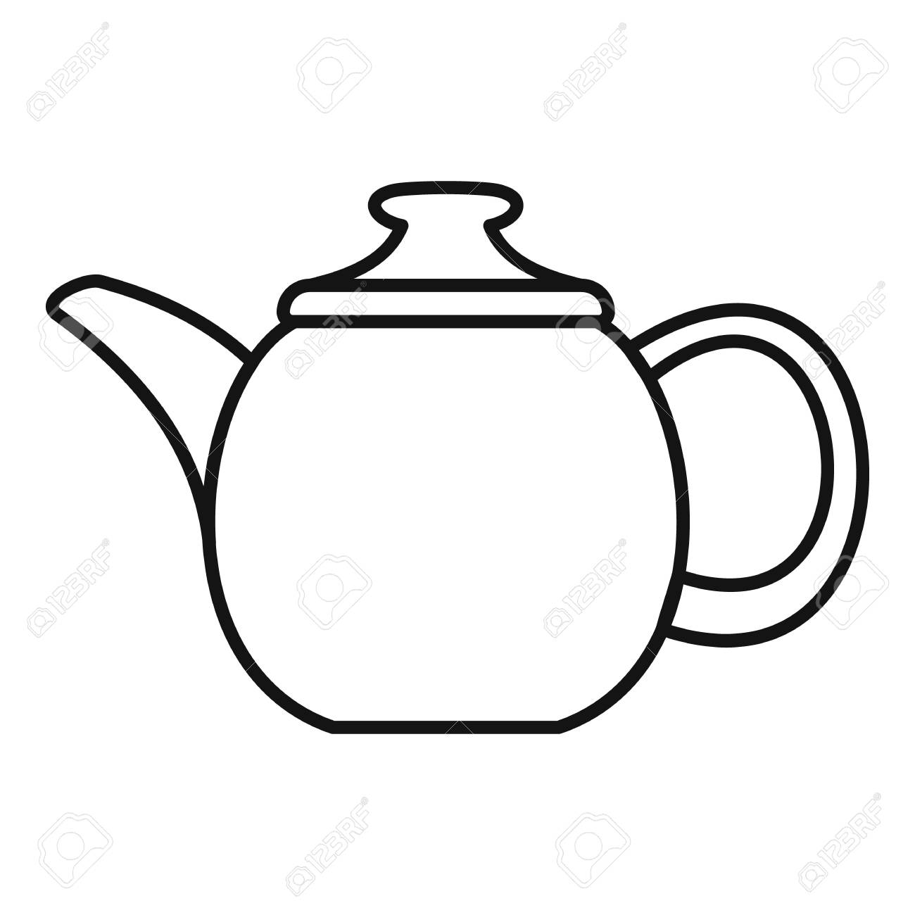 Outline Illustration Of Teapot For Making Tea And Coffee Royalty Free  Cliparts, Vectors, And Stock Illustration. Image 45587838.