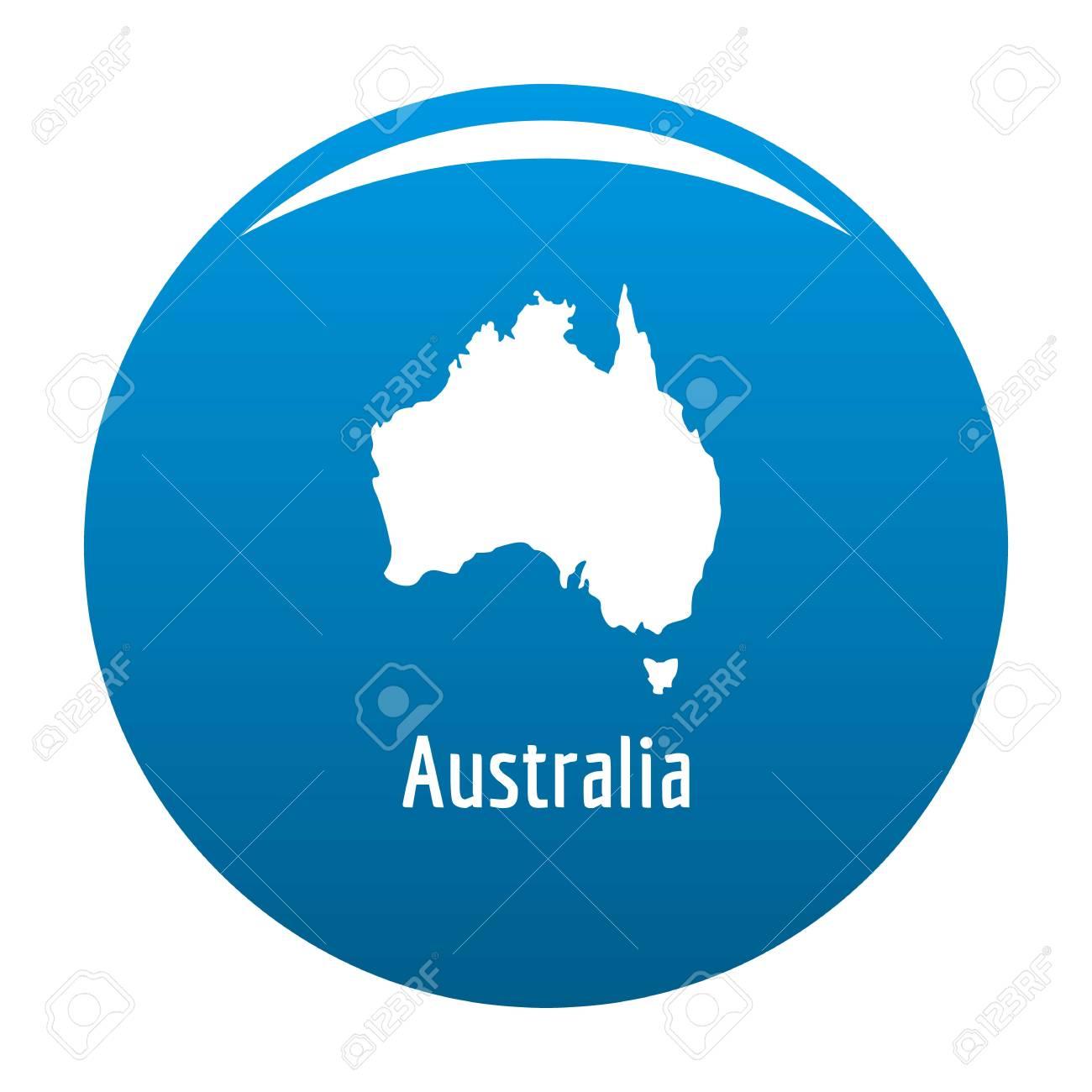 australia map in black simple illustration of australia map vector isolated on white background stock