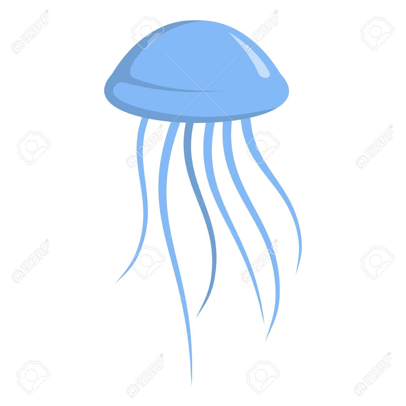 jellyfish icon cartoon illustration of jellyfish vector icon rh 123rf com jellyfish vector free jellyfish factory graphing