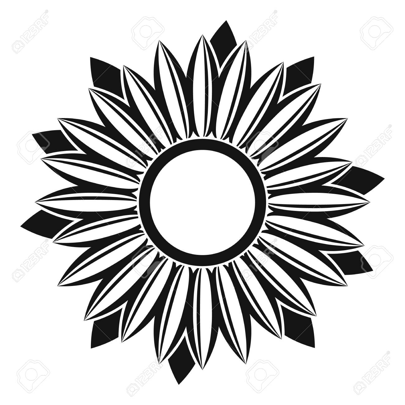 ripe sunflower icon simple illustration of ripe sunflower vector rh 123rf com sunflower vector free download sunflower vector art