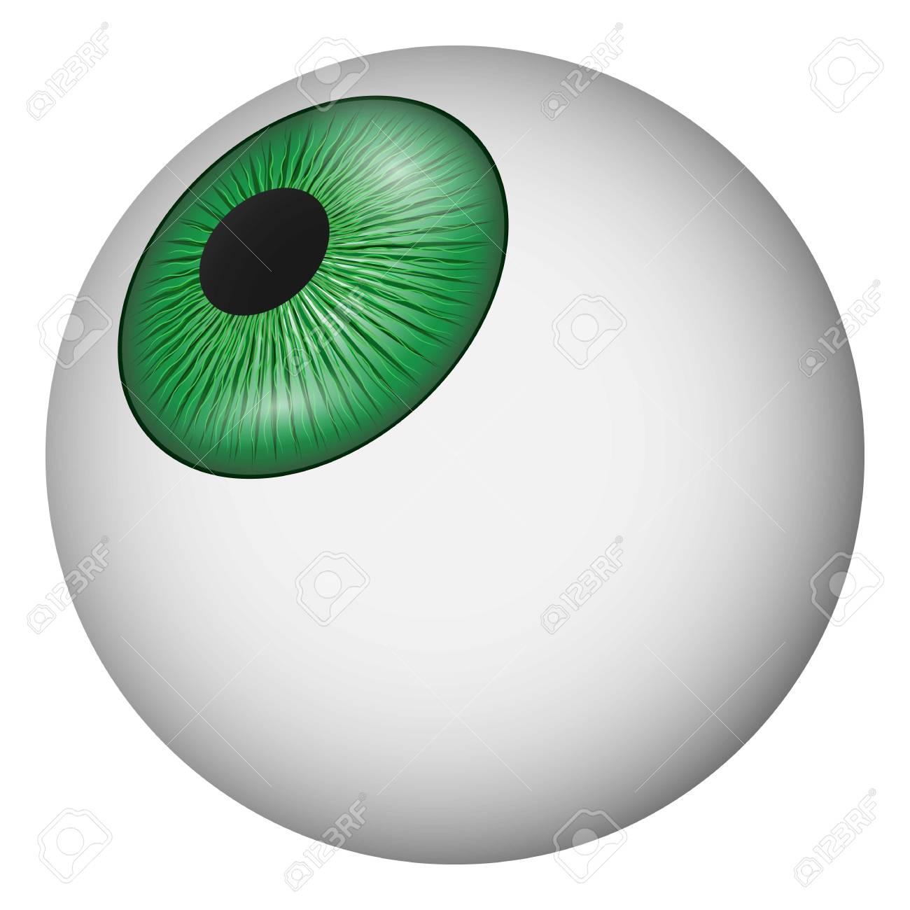 eyeball icon realistic illustration of eyeball vector icon for rh 123rf com eyeball vector free download eyeball vector png
