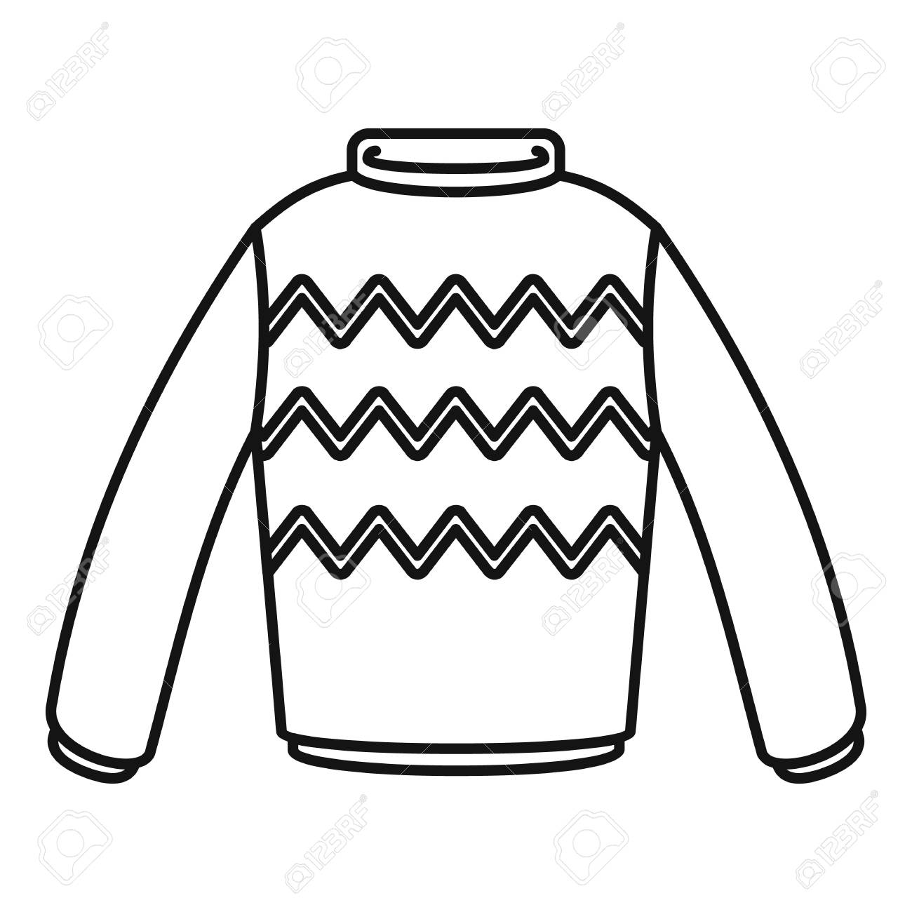 Winter sweater icon. Outline illustration of winter sweater vector..