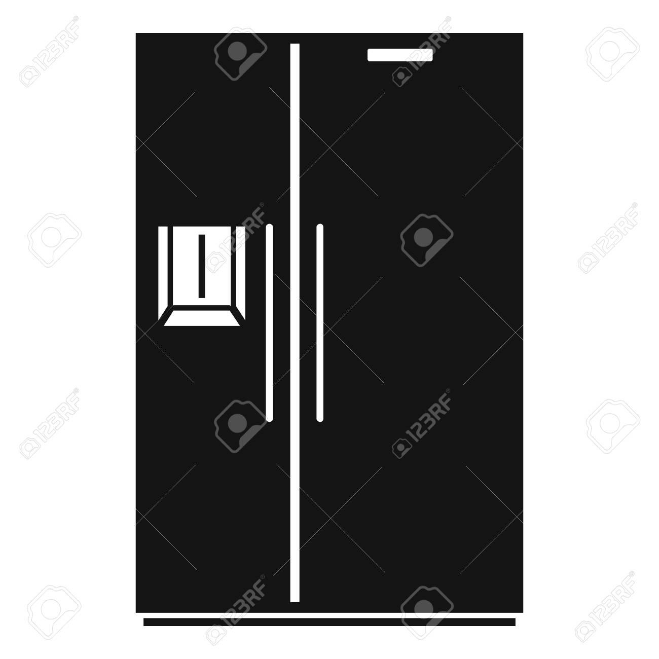 Double Door Fridge Icon Simple Illustration Of Double Door Fridge