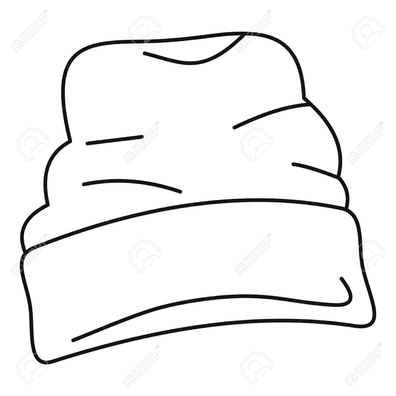Beanie hat icon. Outline beanie hat vector icon for web design isolated on  white background c1f301293c8