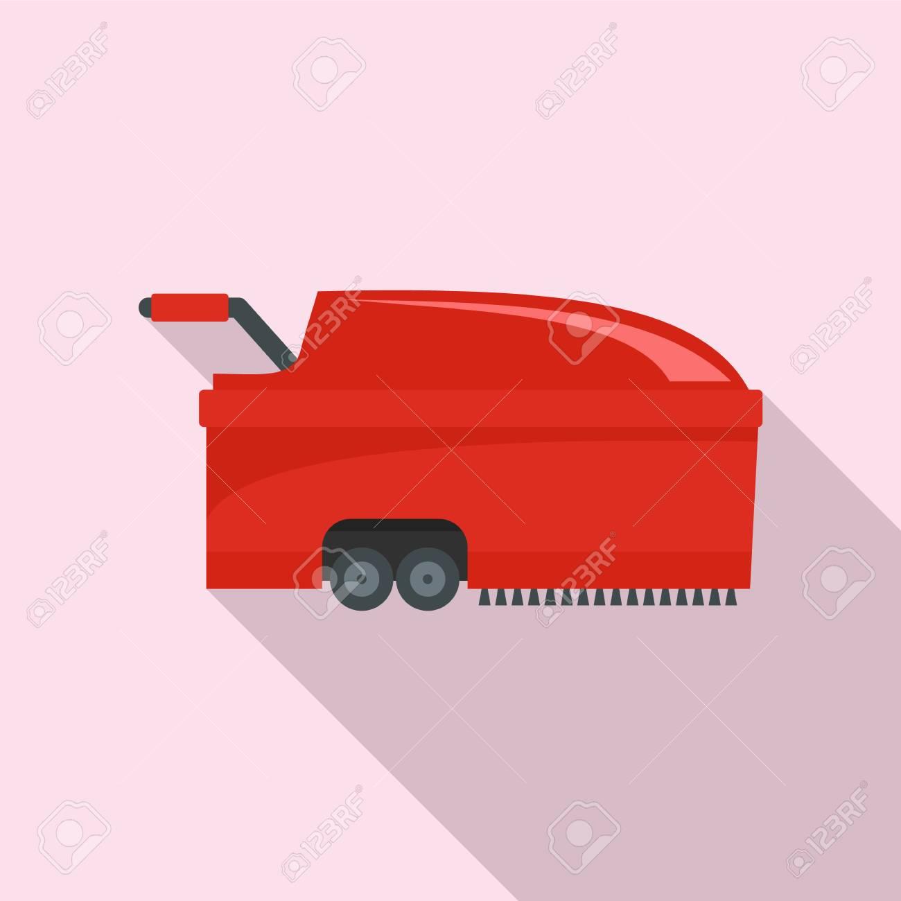 Hall vacuum cleaner icon. Flat illustration of hall vacuum cleaner vector icon for web design - 112307895