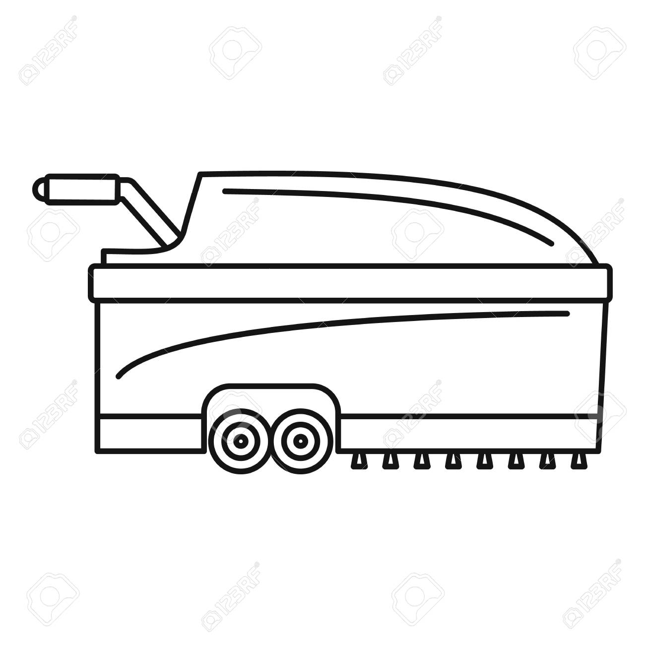 Hall vacuum cleaner icon. Outline hall vacuum cleaner vector icon for web design isolated on white background - 112307900