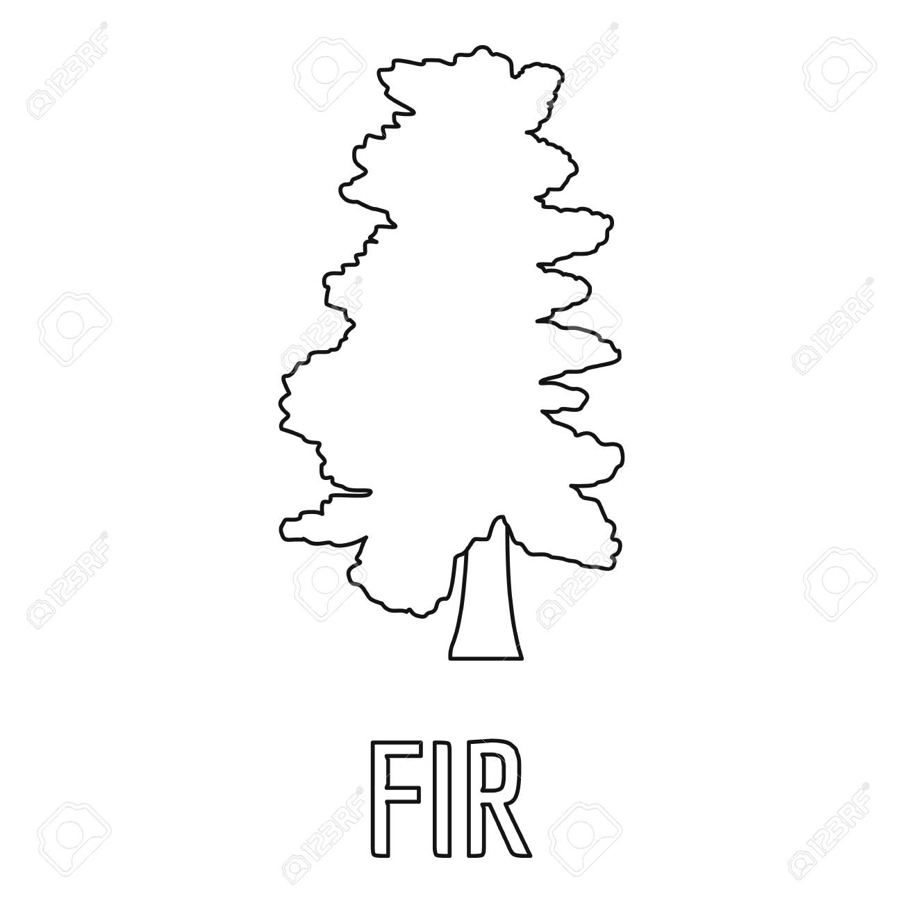 fir tree icon outline illustration of fir tree icon for web stock  fir tree icon outline illustration of fir tree icon for web stock illustration 105741353