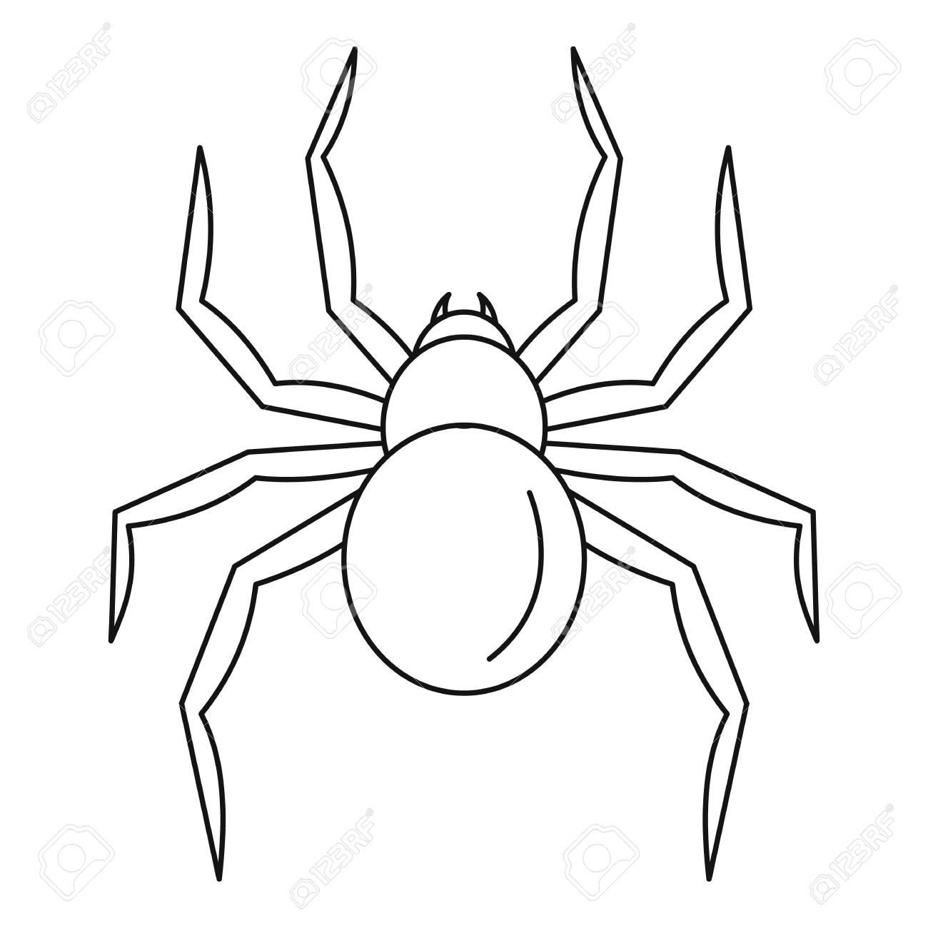 Black Widow Spider Icon Outline Black Widow Spider Icon For