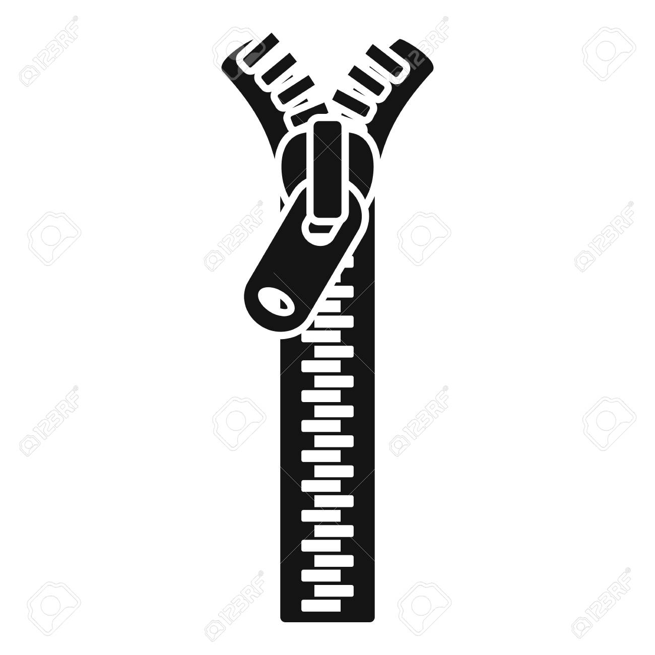 Jacket zipper icon. Simple illustration of jacket zipper vector icon for web design isolated on white background - 126144350