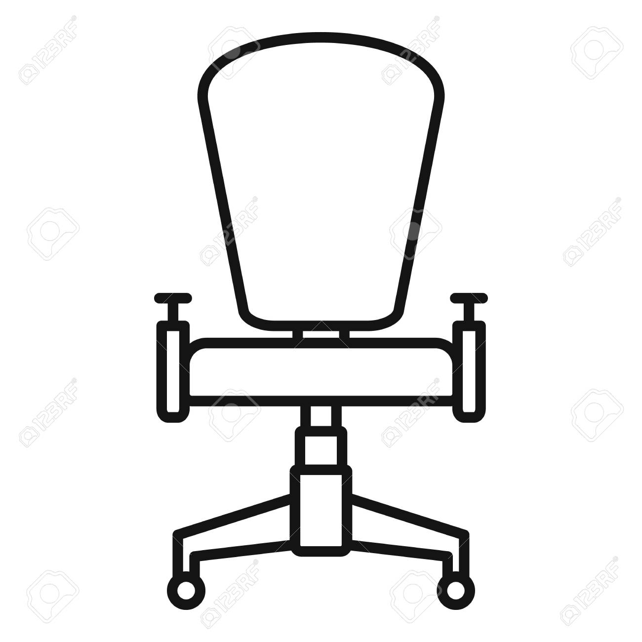Cool Office Desk Chair Icon Outline Office Desk Chair Vector Icon Onthecornerstone Fun Painted Chair Ideas Images Onthecornerstoneorg