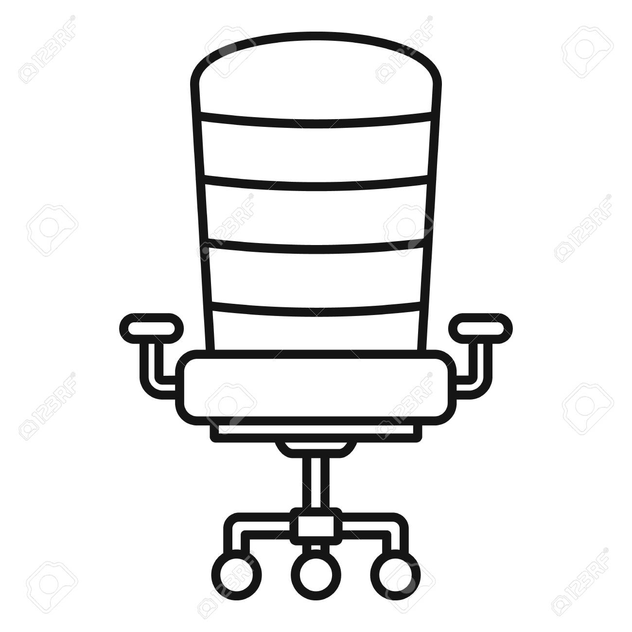 Peachy Modern Desk Chair Icon Outline Modern Desk Chair Vector Icon Onthecornerstone Fun Painted Chair Ideas Images Onthecornerstoneorg