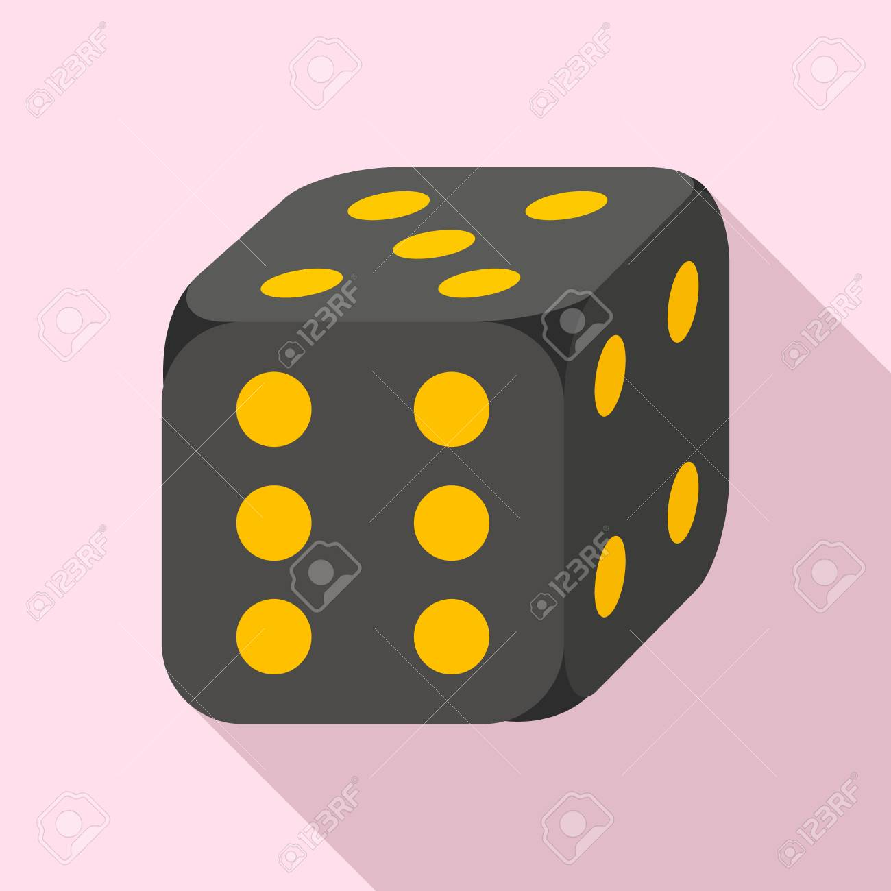 Lucky dice icon, flat style