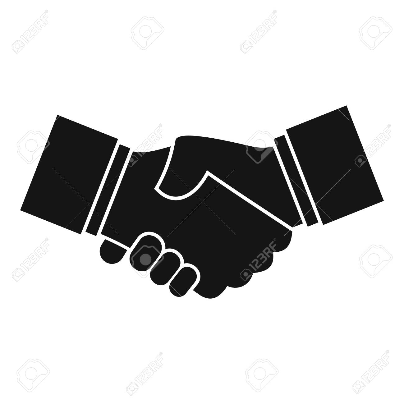 Business handshake icon, simple style - 126249889