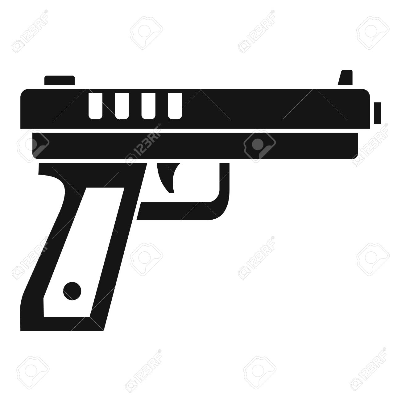 gun pistol icon simple illustration of gun pistol vector icon royalty free cliparts vectors and stock illustration image 127026070 gun pistol icon simple illustration of gun pistol vector icon