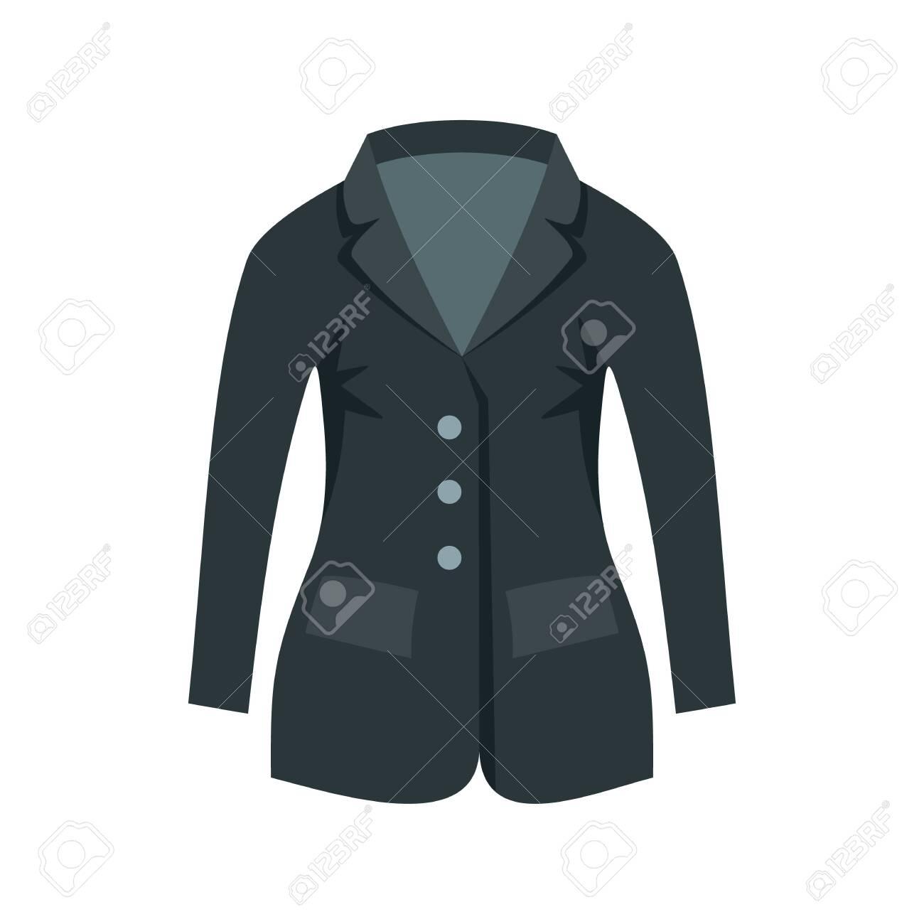 Horse riding jacket icon, flat style - 131152694