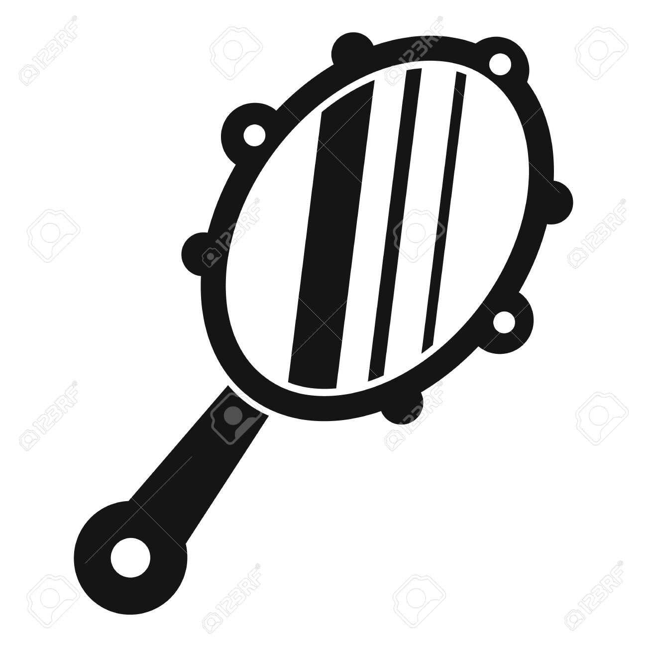 Hand mirror icon, simple style - 133489653
