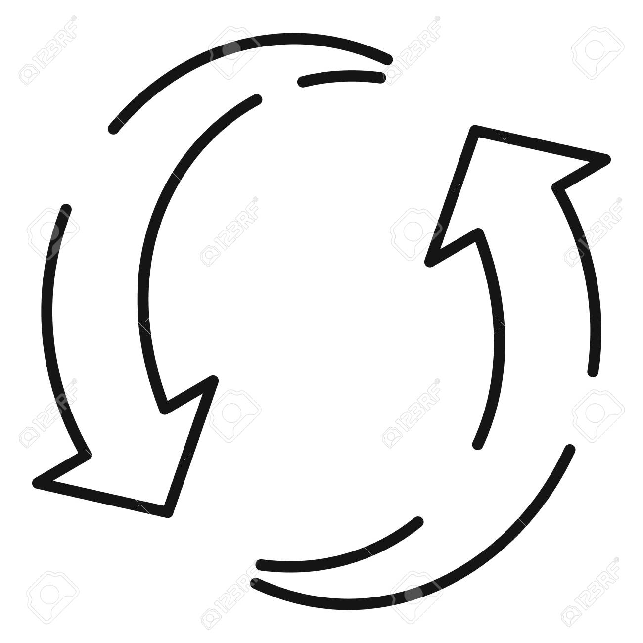 Plastic recycling icon, outline style - 144653384