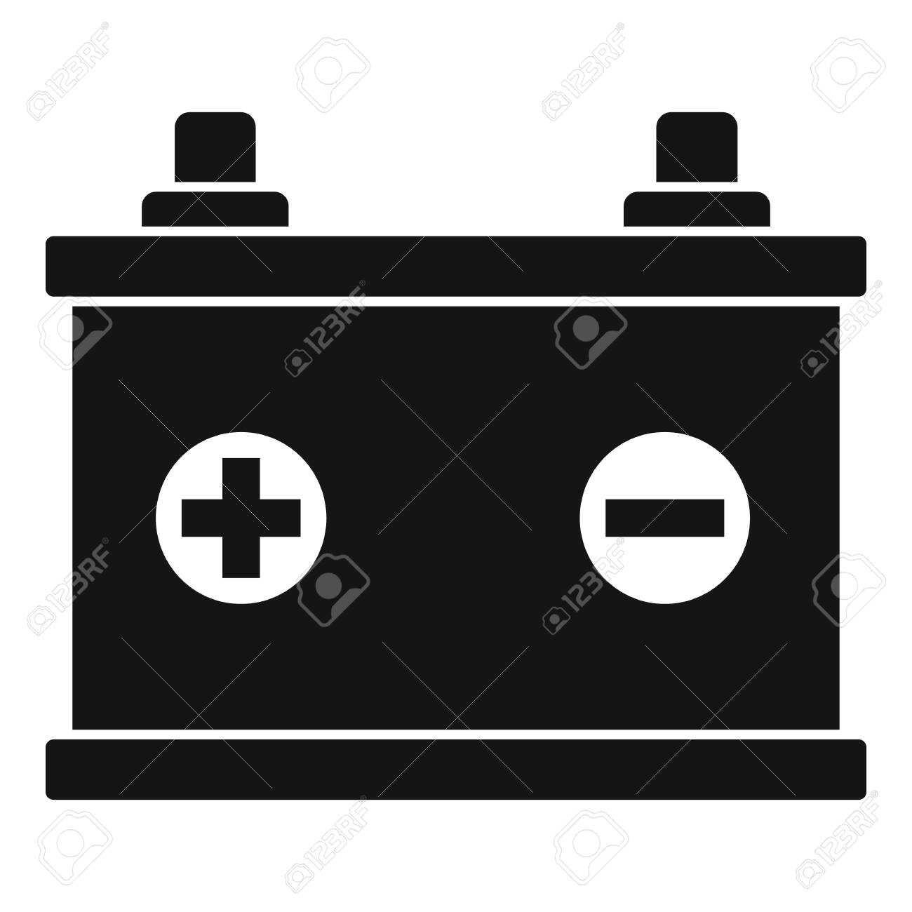 car battery icon simple illustration of car battery vector icon royalty free cliparts vectors and stock illustration image 146970155 123rf com