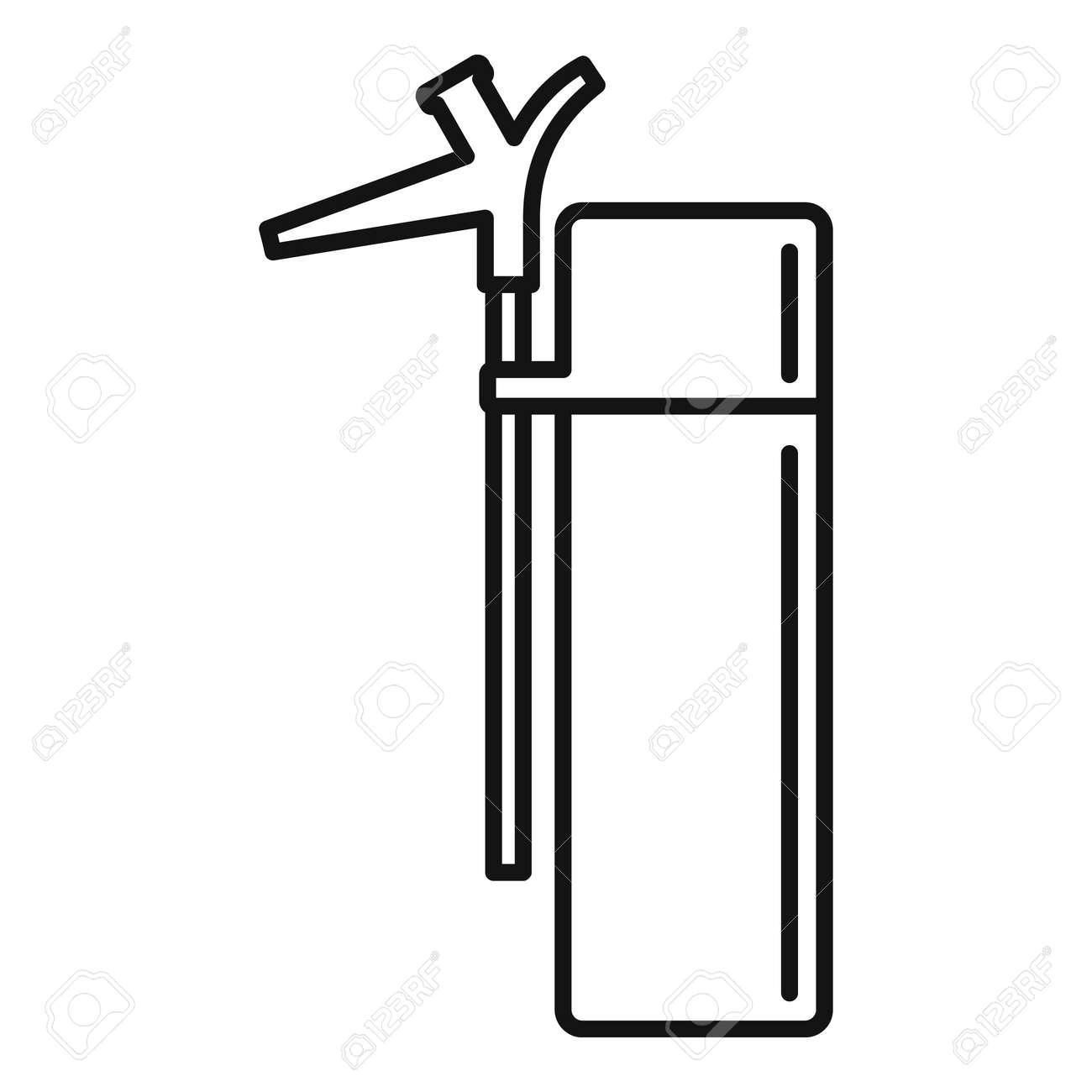 Carpenter polyurethane foam icon, outline style - 156562819