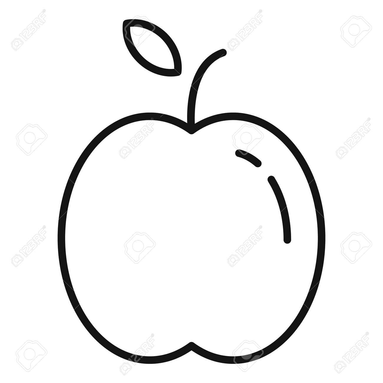 Farm apple icon, outline style - 169751545