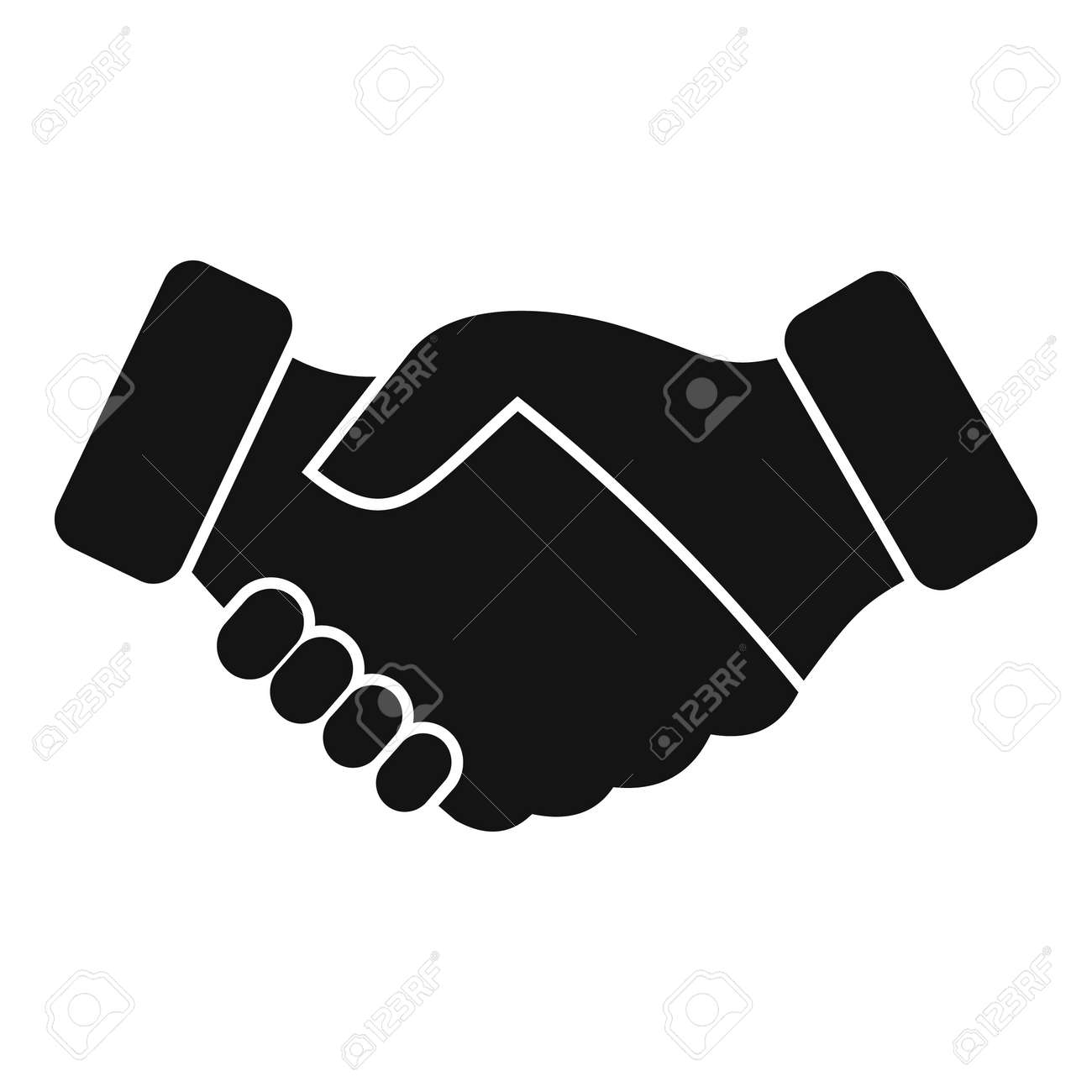 Reliability handshake icon simple vector. Trust integrity - 173272580