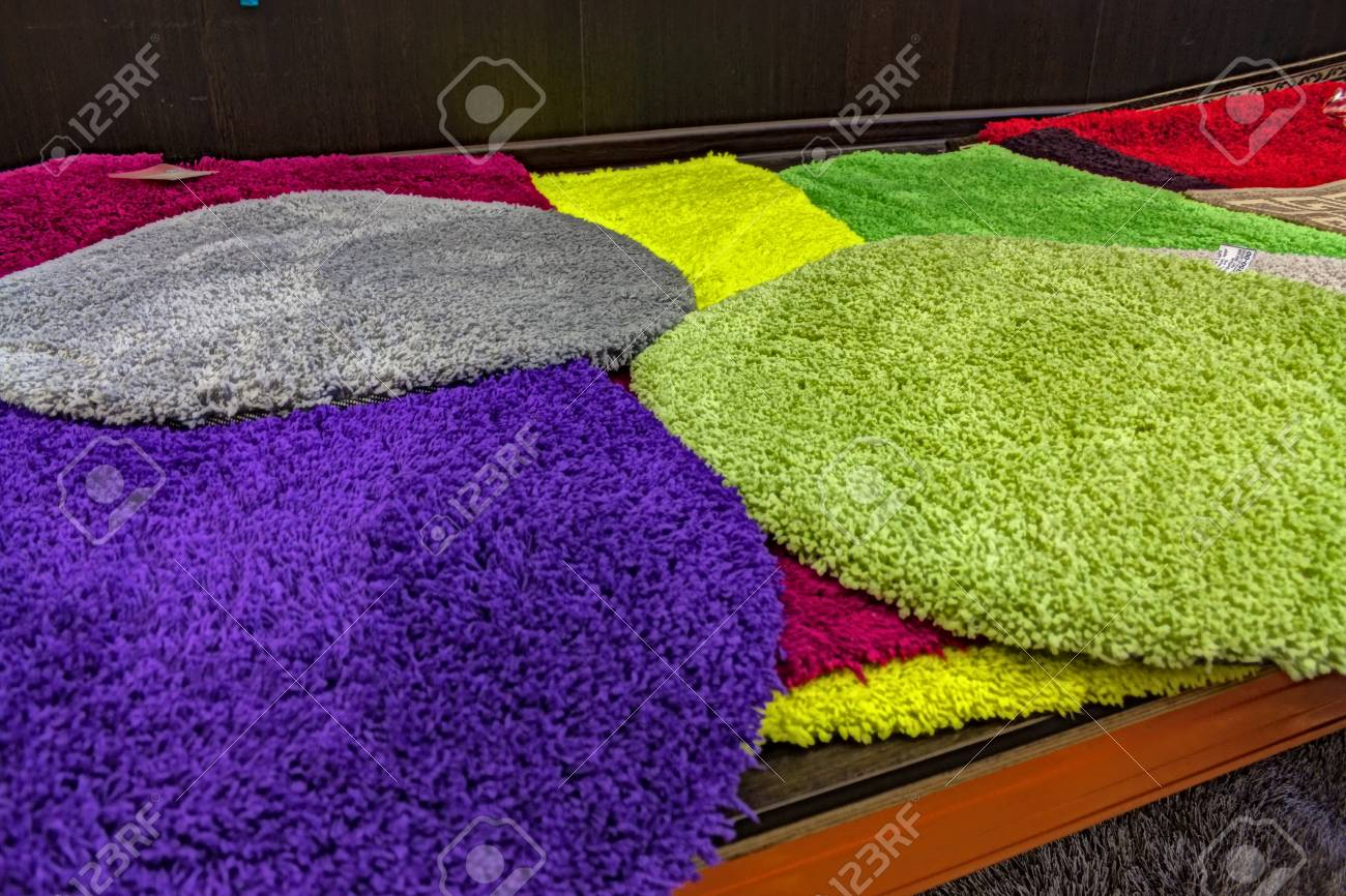 fluffy carpets. Multi coloured fluffy carpets for a background  floor coverings Stock Fluffy Carpets For A Background