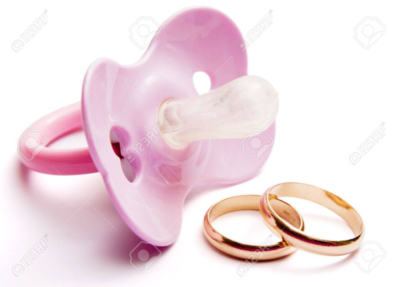 Pacifier And Wedding Rings, Concept Of Having After Marriage ...