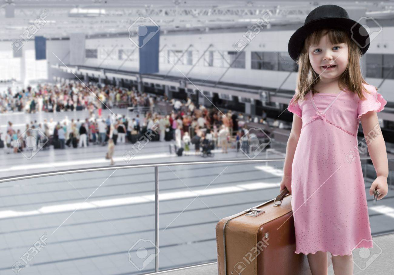 Girl at the airport Stock Photo - 4600319
