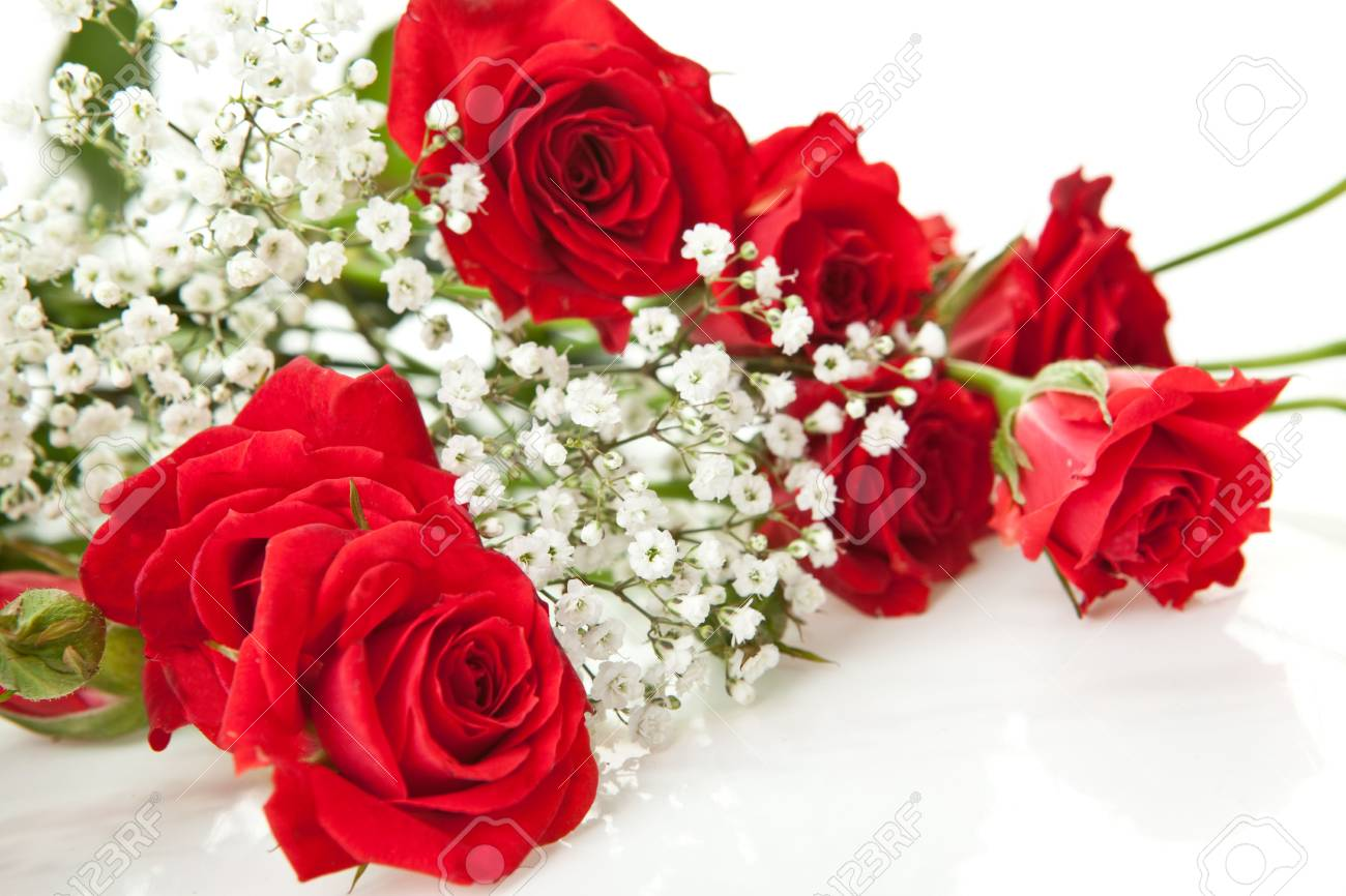 Rose bouquet stock photos royalty free rose bouquet images red roses bouquet on a white background stock photo izmirmasajfo