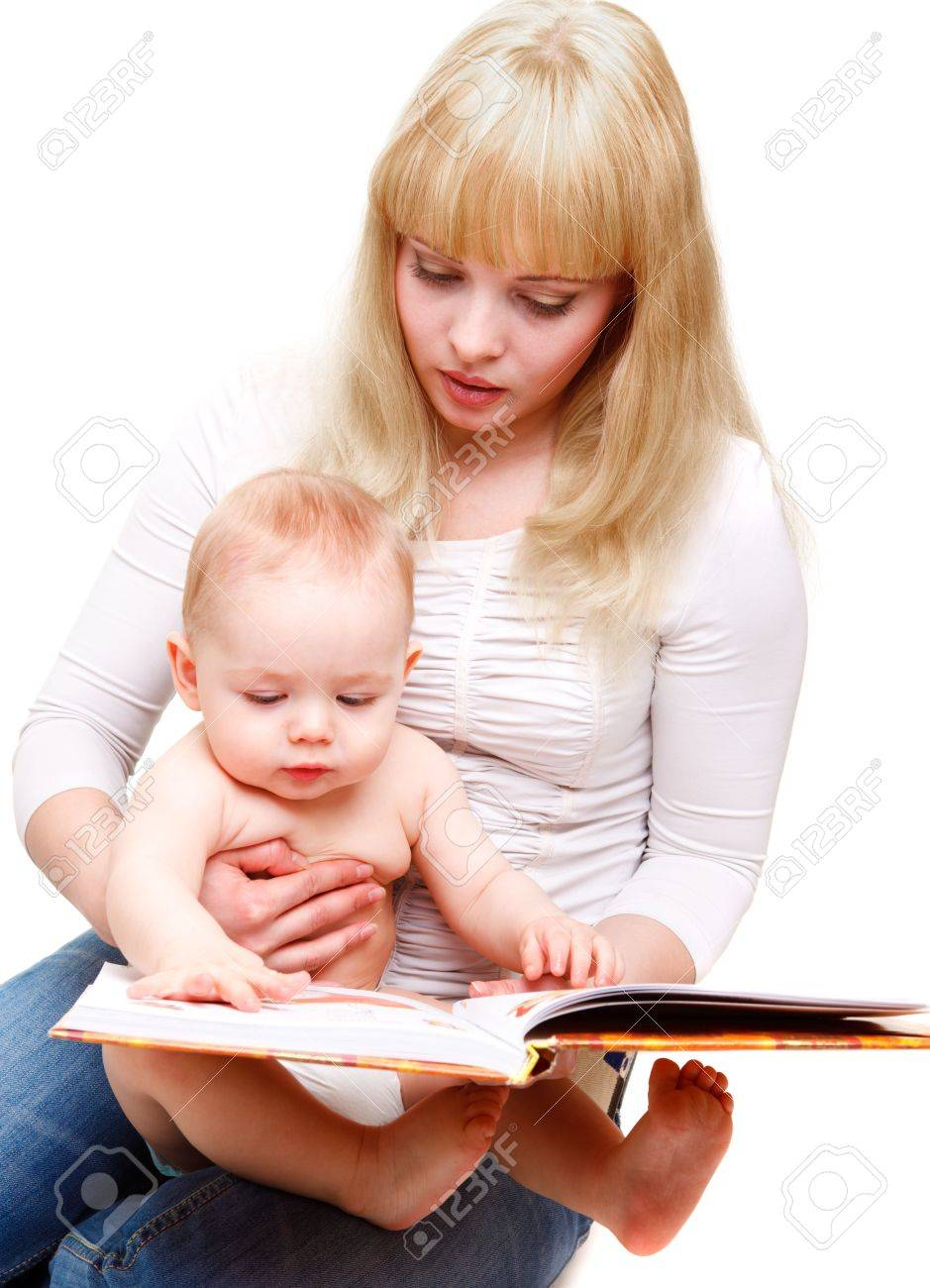 Mom reading a book to her baby son Stock Photo - 6553666