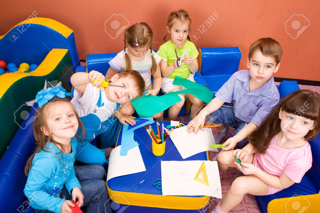 Art and craft activity in the kindergarten Stock Photo - 7021096