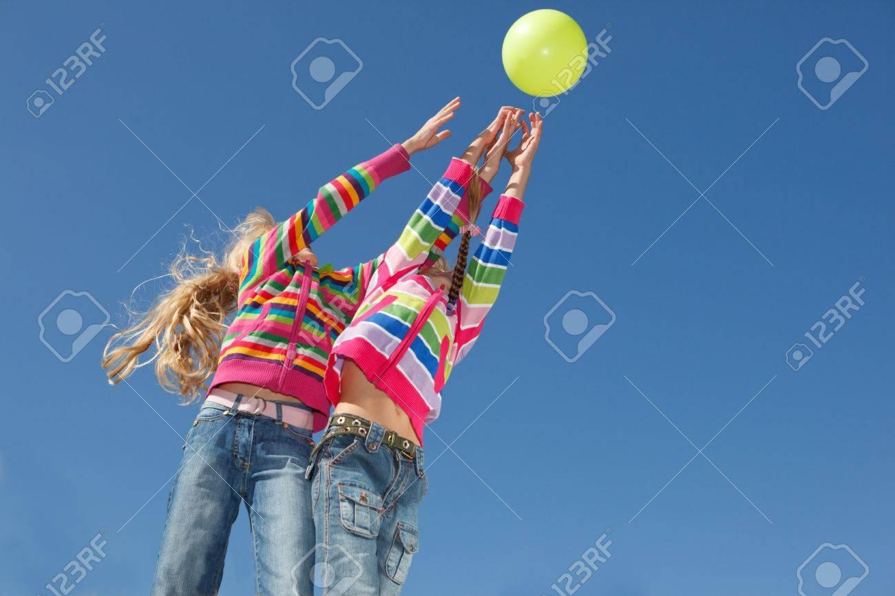 Kids catching the ball Stock Photo - 7872237