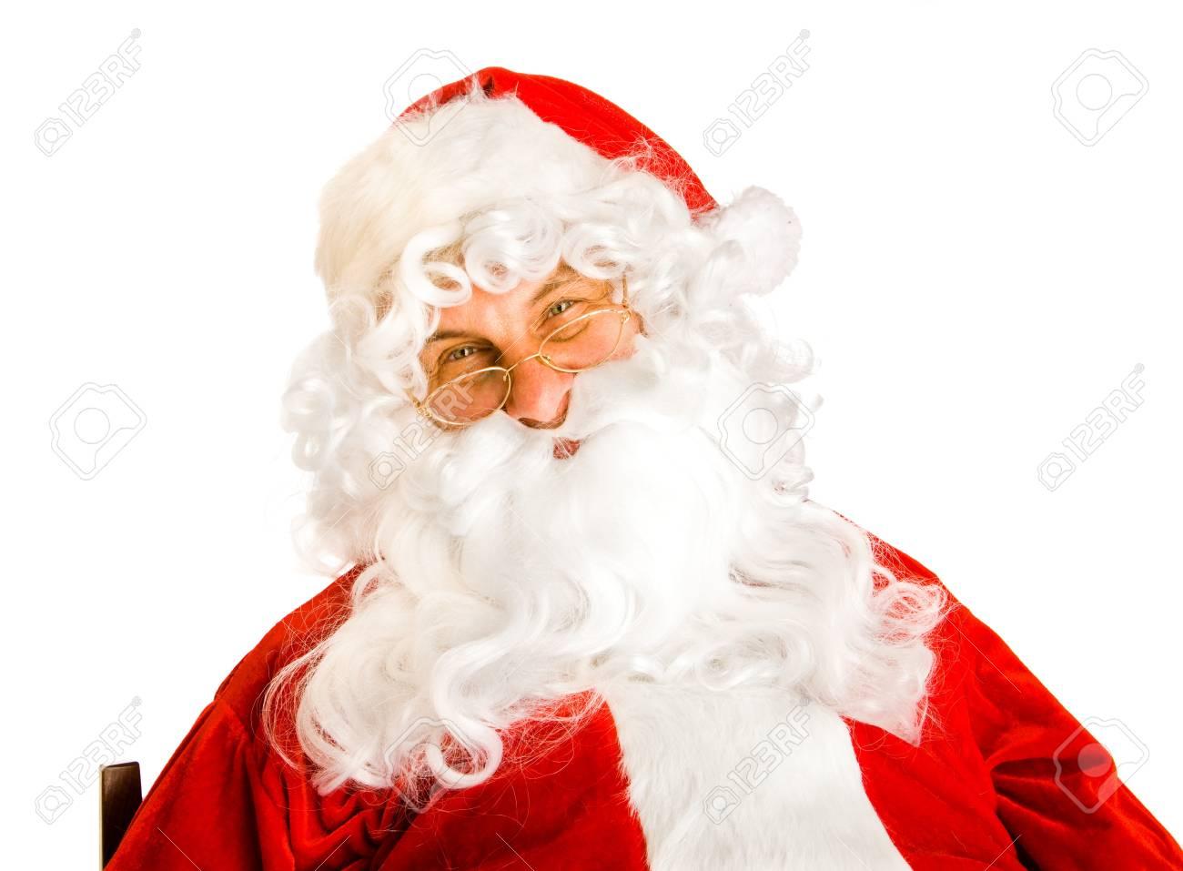 Portrait of Santa Claus,isolated Stock Photo - 7918685