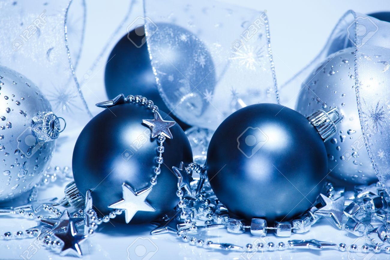 Silver and blue Christmas decoration Stock Photo - 8373175