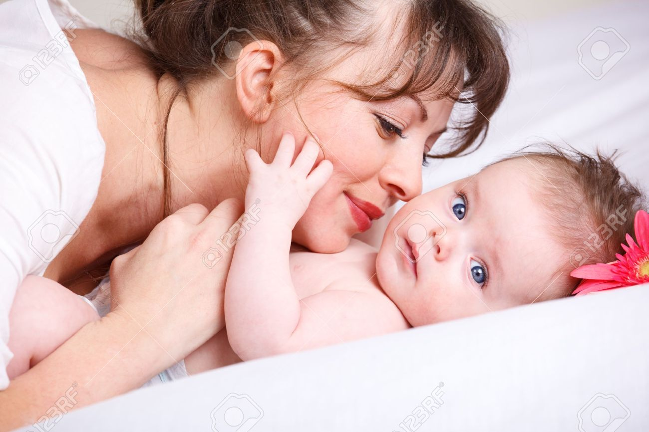 Mom Playing With Cute Baby Stock Photo Picture And Royalty Free