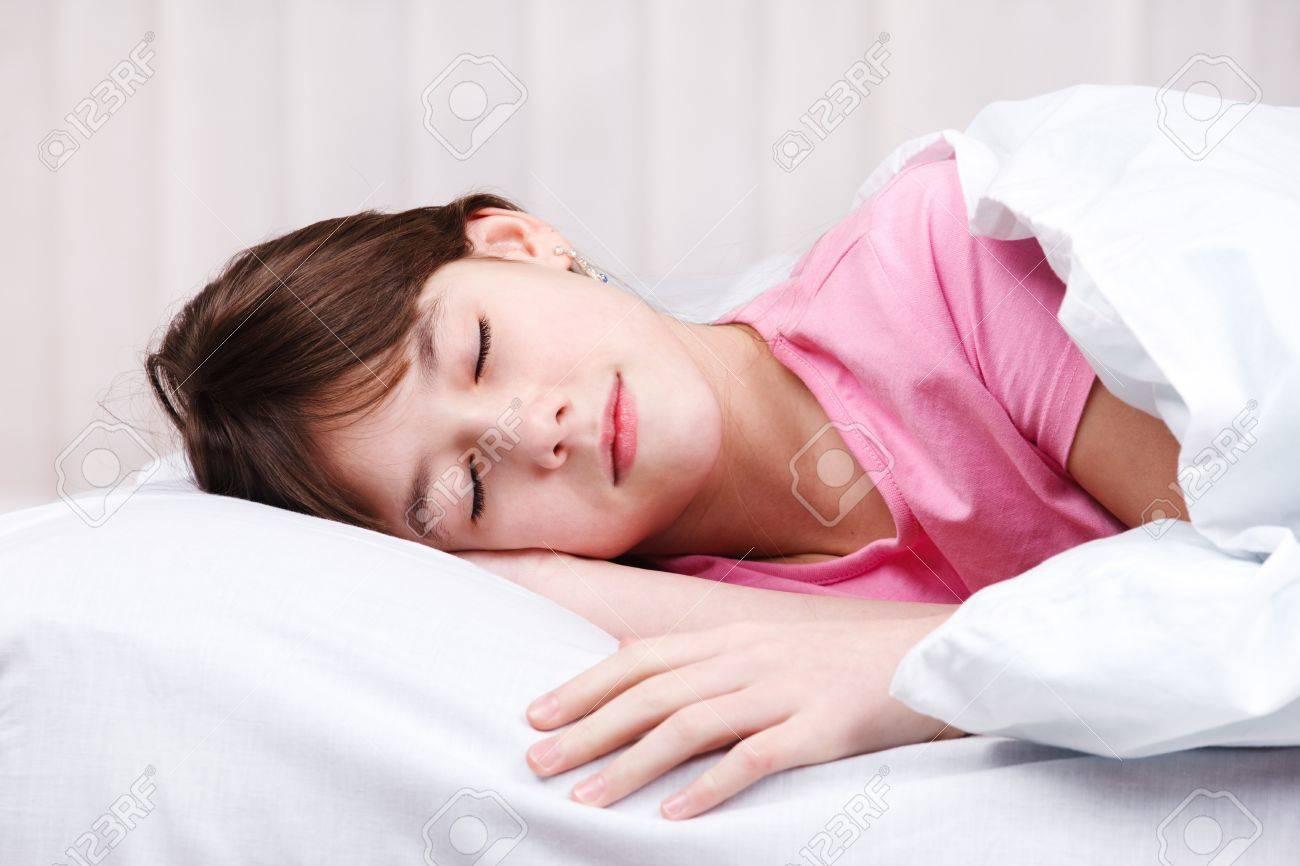 Portrait of a teenage girl sleeping Stock Photo - 9191499